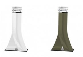 Grande lampe à poser Leds :  H diffuseur : 785mm Fonderie d'aluminium moulé – version Led 6w pour diffuseur en altuglas – classe 2