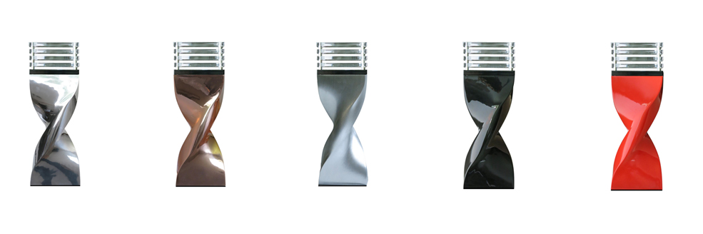Table Lamp small size : Manufacturing realized in cast aluminium paint or polished and cast resin version – top diffuser in clear or satin PMMA – Led bulb provided – 220240V – class 2 H : 420/520 mm.